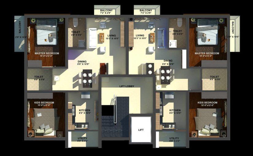 3D Floor Plans in Trichy