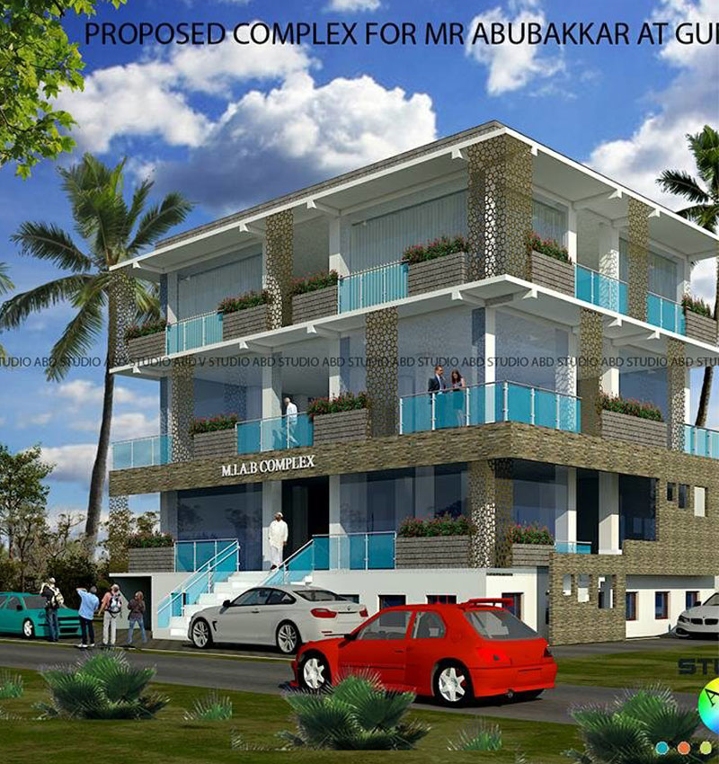 Commercial Complex Elevation Design