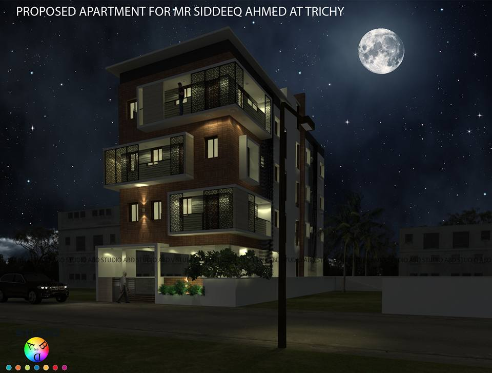 Apartment Elevation design in Trichy