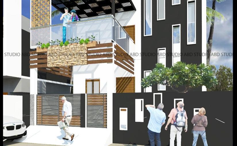 Elevation Design for Residence in Vilathikulam
