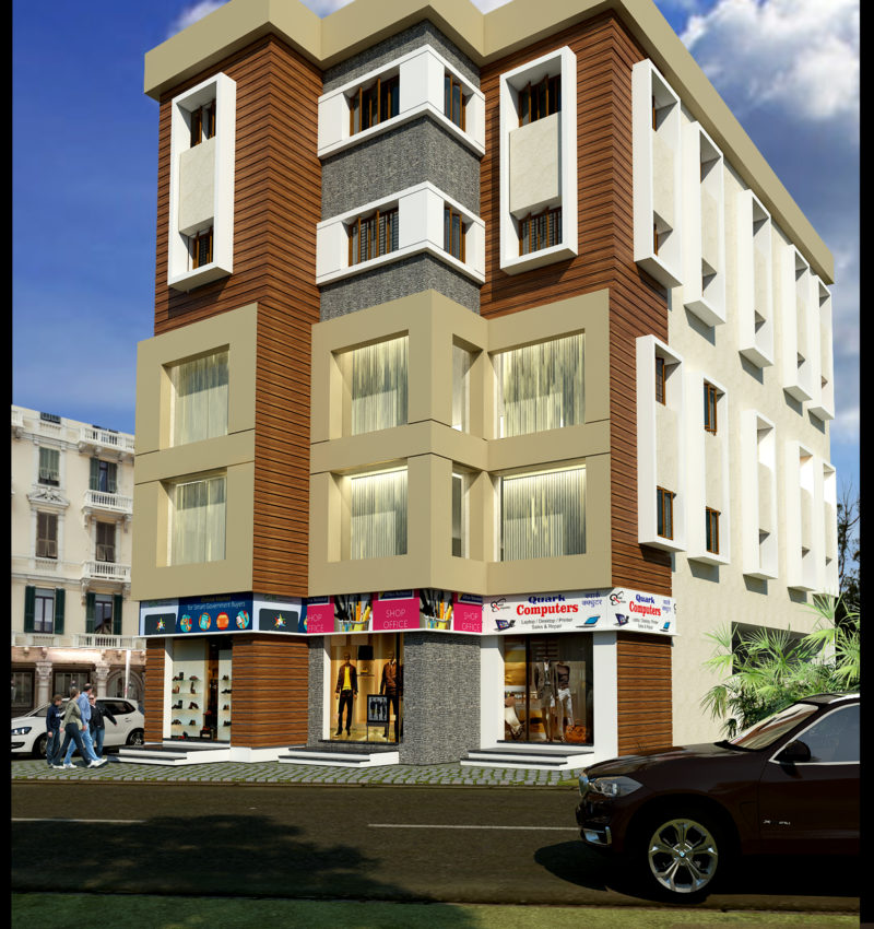 Elevation design for Commercial Complex in Trichy