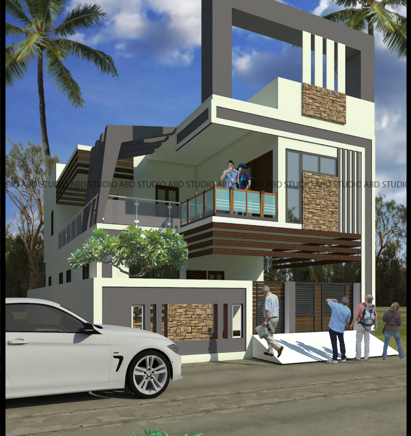 Elevation Design for Residence in Vellore