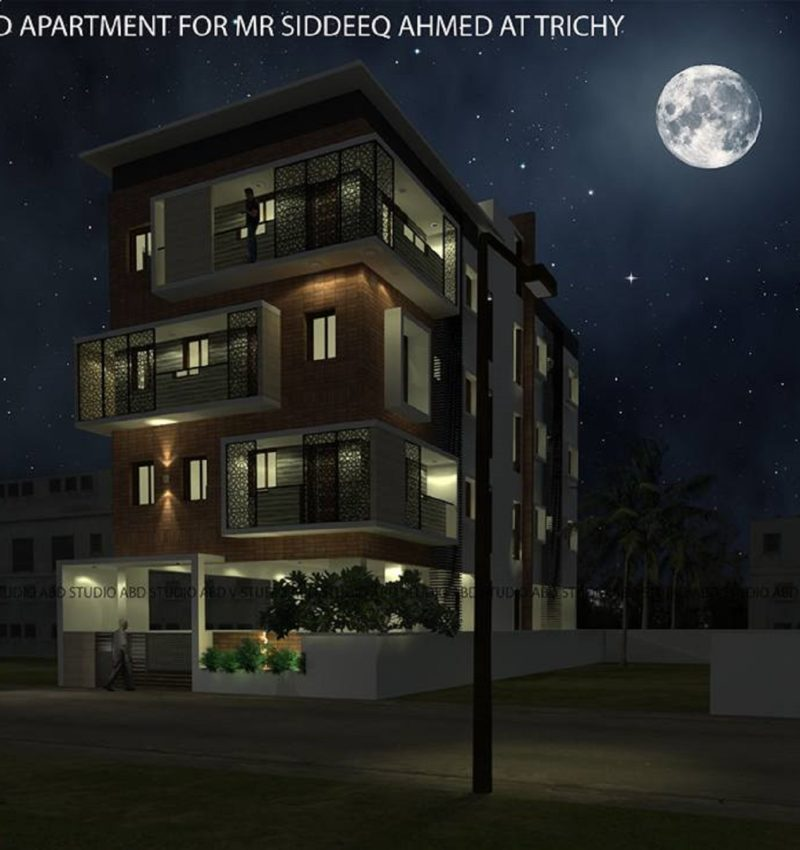 Elevation design for Apartment in Khaja Nagar