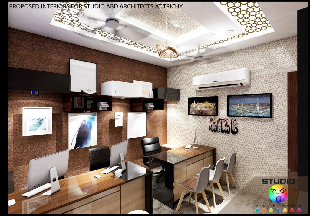 Interiors for Studio ABD Architects Office in Trichy