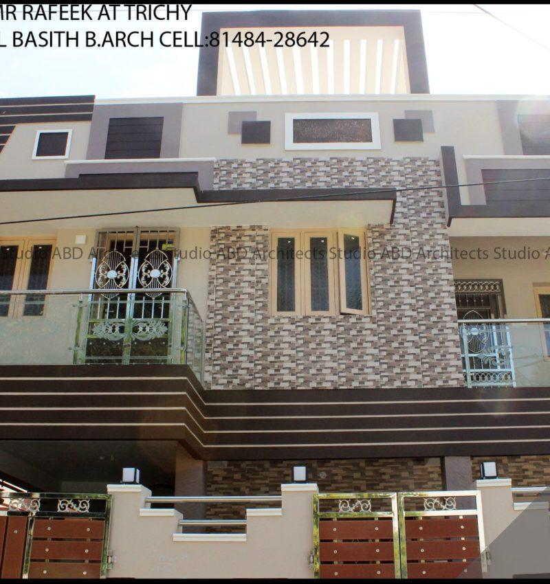 Elevation Design For Residence to Mr Rafeek