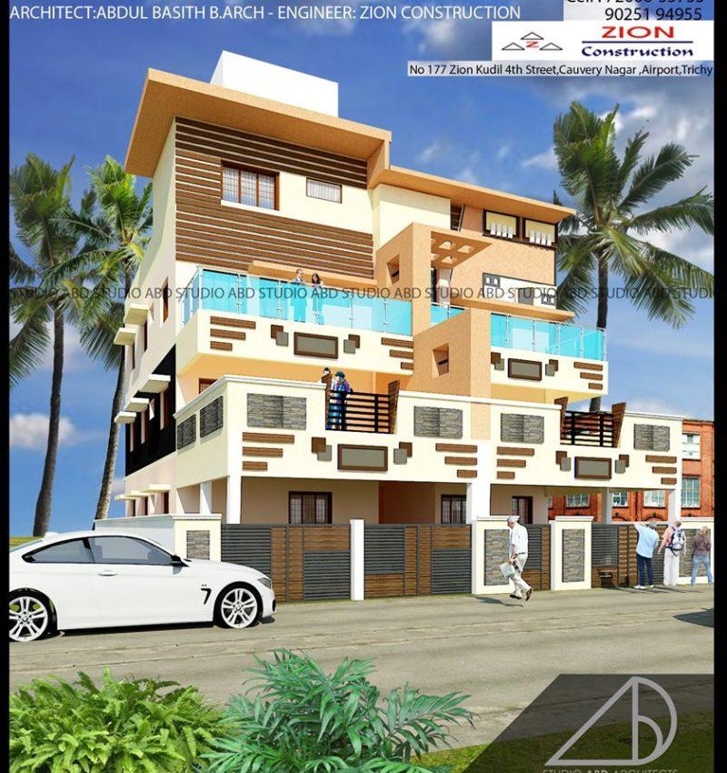 Residence Elevation Design For MR Sagaya Raj