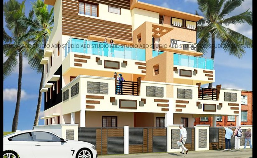 Residence Elevation Design For MR Sagaya Raj